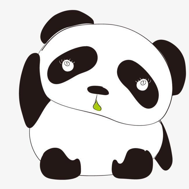手绘的大熊猫动物