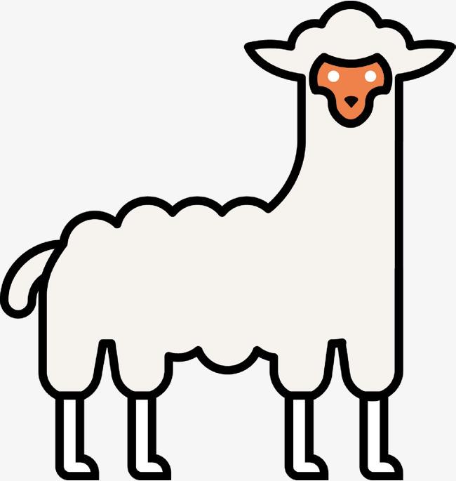 山羊动物创意手绘图