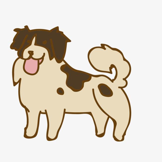 卡通手绘可爱的小狗