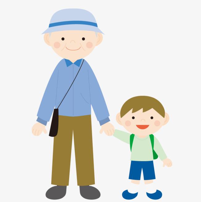 日本奶奶与孙子_拉着孙子的老奶奶