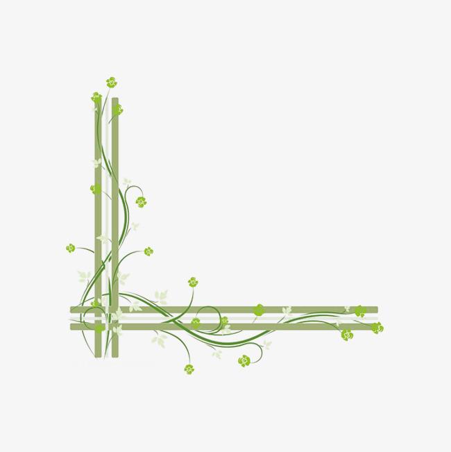 绿色藤蔓特色边框