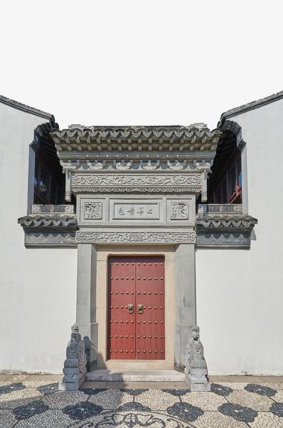 中式古建筑宅院大门