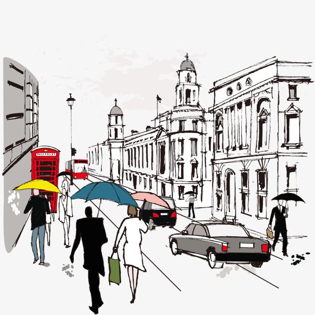 外国街道创意建筑素材图片免费下载_高清png_千库网图片
