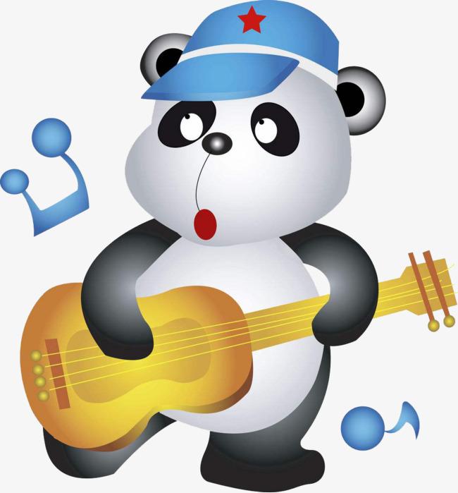 图片 > 【png】 弹吉他的卡通熊猫  分类:手绘动漫 类目:其他 格式