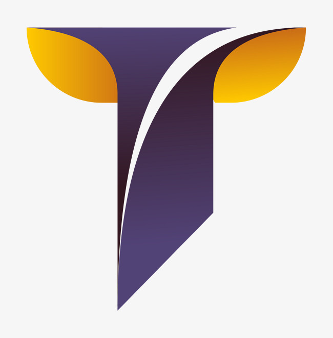 logo字母设计彩色立体t型图片