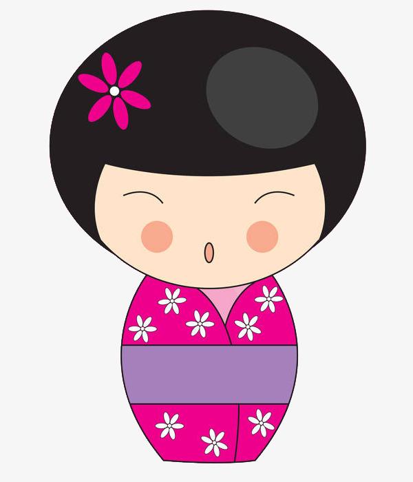 卡通日本少女免抠图