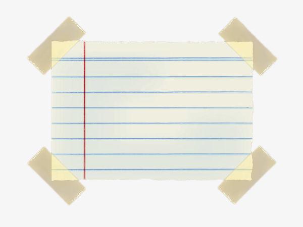 手绘几何线条便签贴纸胶带图片