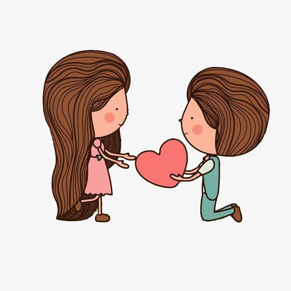 卡通表白的情侣免抠图png素材下载_高清图片png格式图片