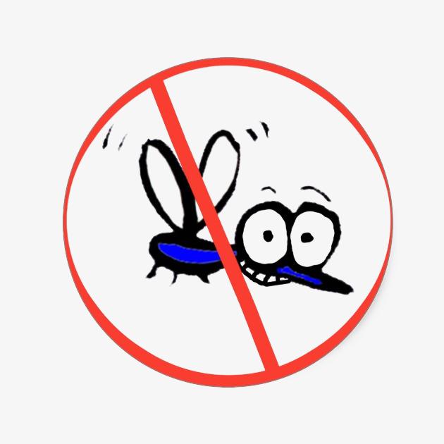 卡通可爱禁止蚊子图标插画免抠