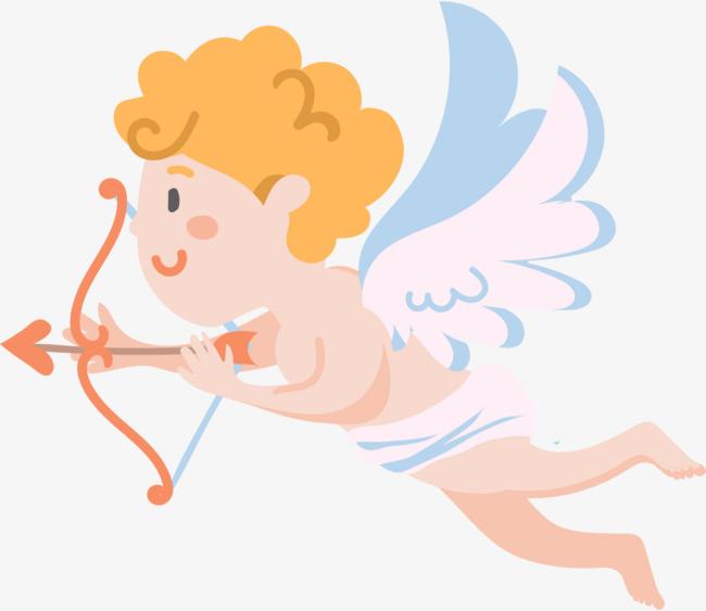 射箭的卡通可爱天使图片