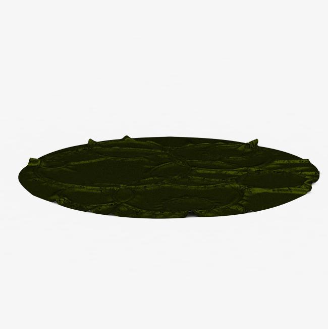 绿色简单圆形纯色地毯_png素材免费下载_ 2000*2000