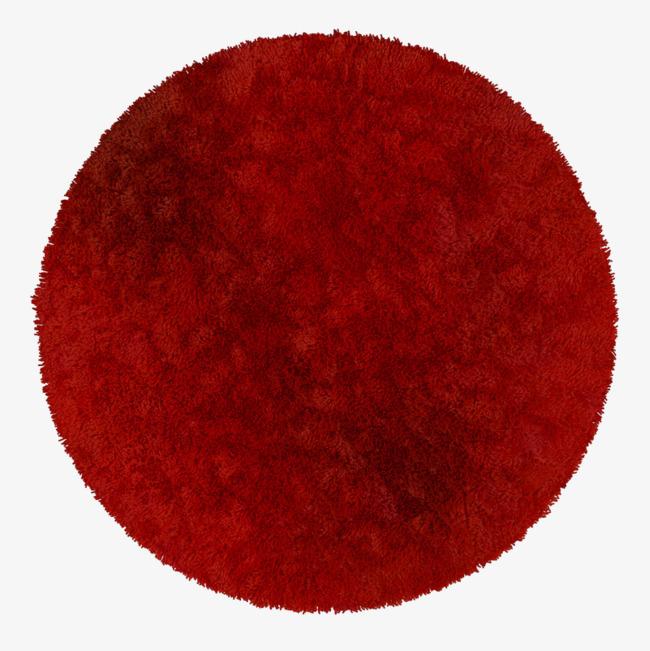 红色纯色圆形地毯_png素材免费下载_ 800*800像素(:)