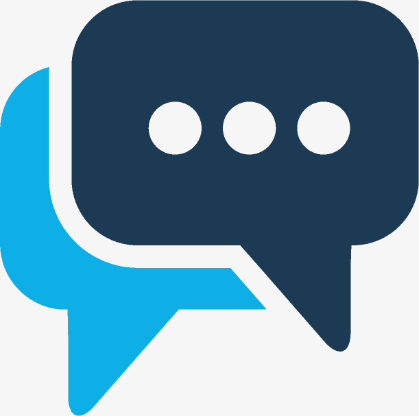 蓝色手绘的微信对话框