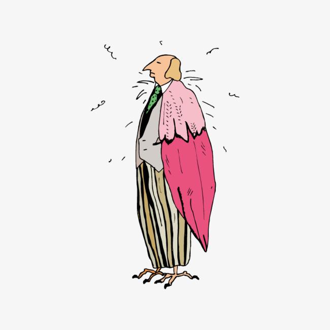 站立的小鸟人物素材