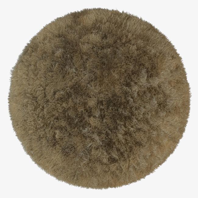 浅棕色简单圆形纯色地毯_png素材免费下载_ 800*800