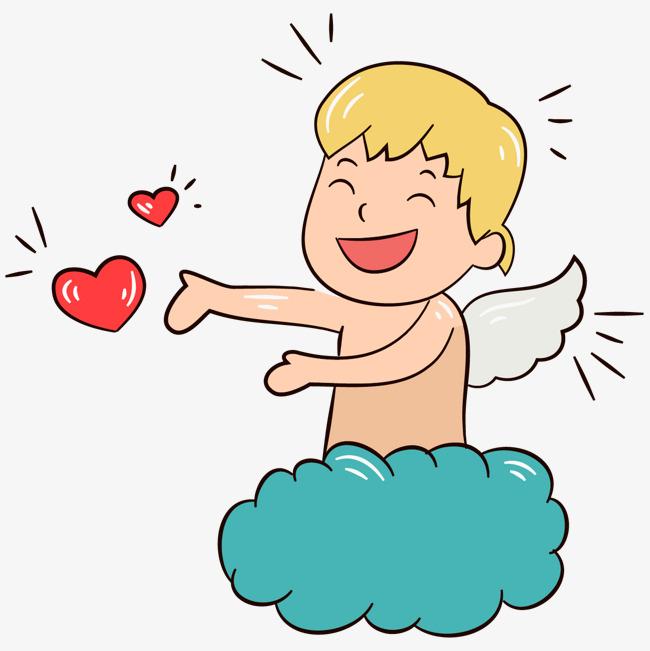 站在云朵上的天使_png素材免费下载_ 1300*1300像素