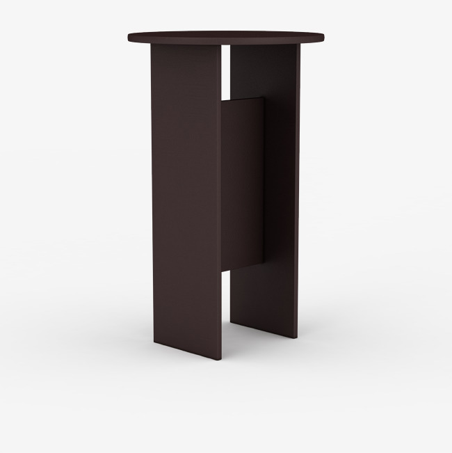 圆形简单棕色时尚吧台桌