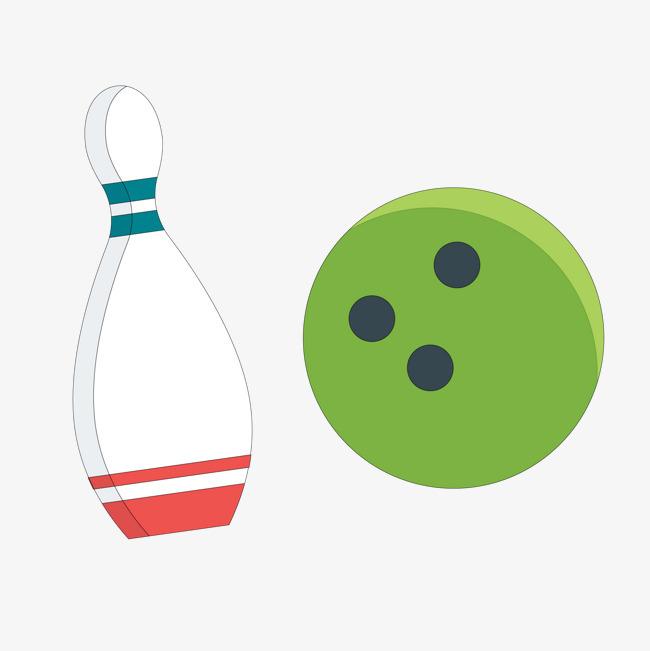 卡通手绘保龄球矢量图