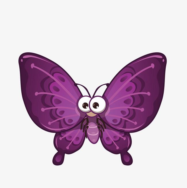 卡通手绘可爱的蝴蝶