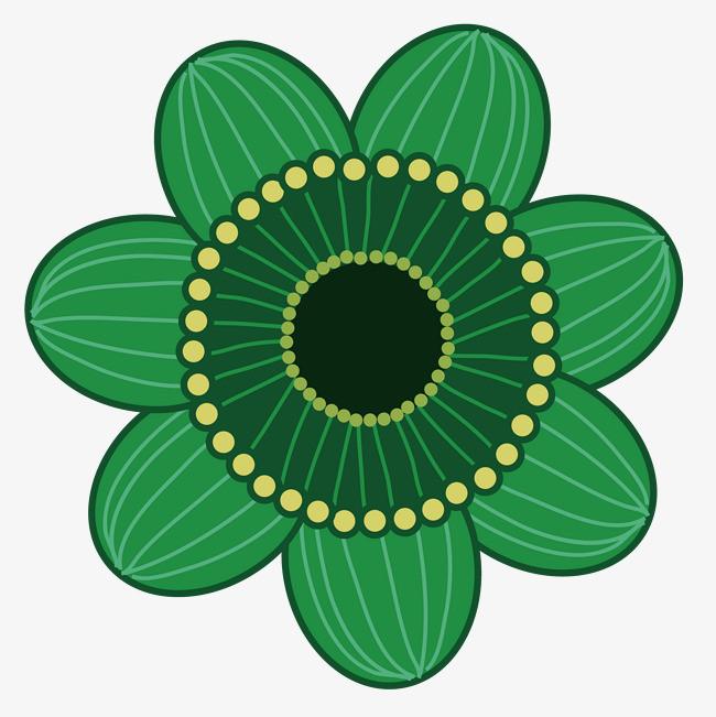 圖片 > 【png】 綠色花朵彩繪圖案  分類:手繪動漫 類目:其他 格式:pn