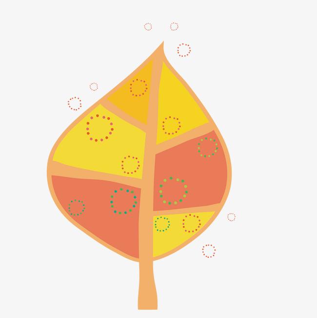 卡通手绘彩色的树叶png素材下载_高清图片png格式(:)
