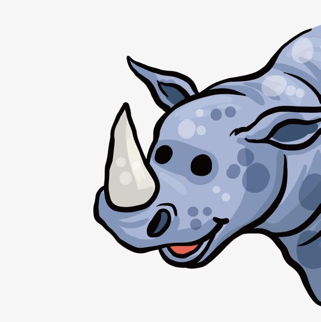 矢量可爱的小犀牛