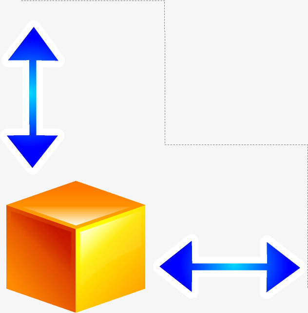 卡通手绘方块箭头png素材下载_高清图片png格式(编号