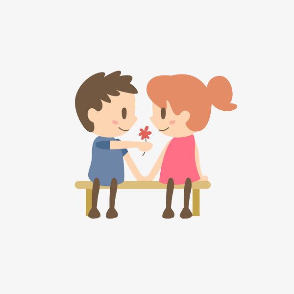 卡通牵手的情侣免抠图png素材下载_高清图片png格式图片