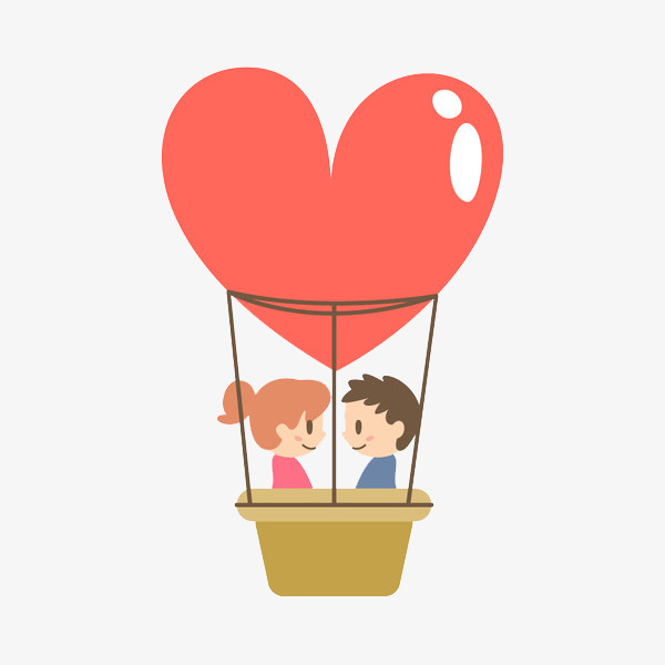 卡通爱心情侣免抠图png素材下载_高清图片png格式(:)图片