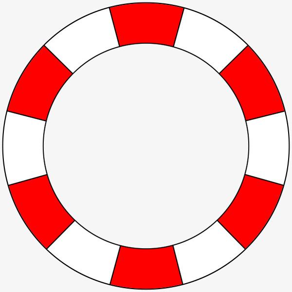 手绘红色游泳圈装饰
