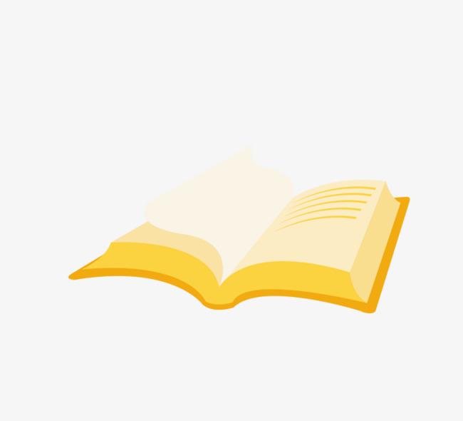 打开的手绘书本装饰