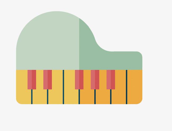 矢量扁平化卡通钢琴