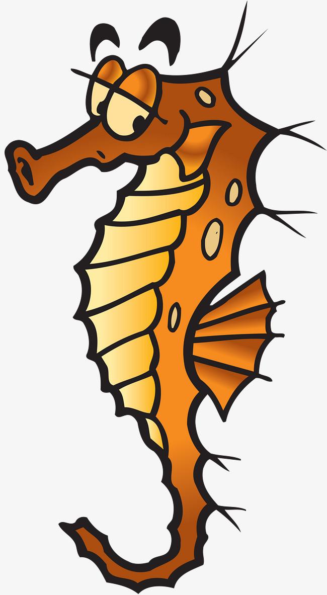 手绘可爱的海马png