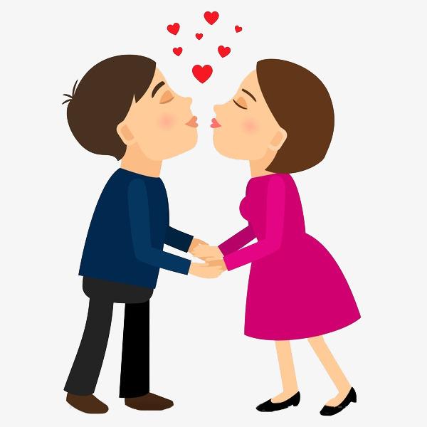卡通亲吻的情侣免抠图png素材下载_高清图片png格式图片