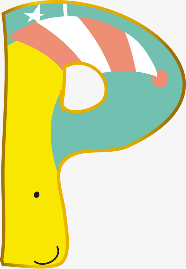 本次创意卡通装饰英文字母手绘字母p作品为设计师杰瑞罗罗诺亚创作,格