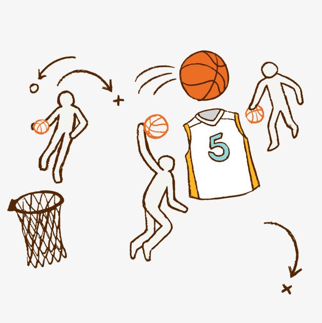 彩绘打篮球人物矢量图png素材下载_高清图片png格式
