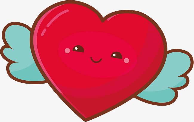 可爱红色笑脸爱心png素材下载_高清图片png格式(编号