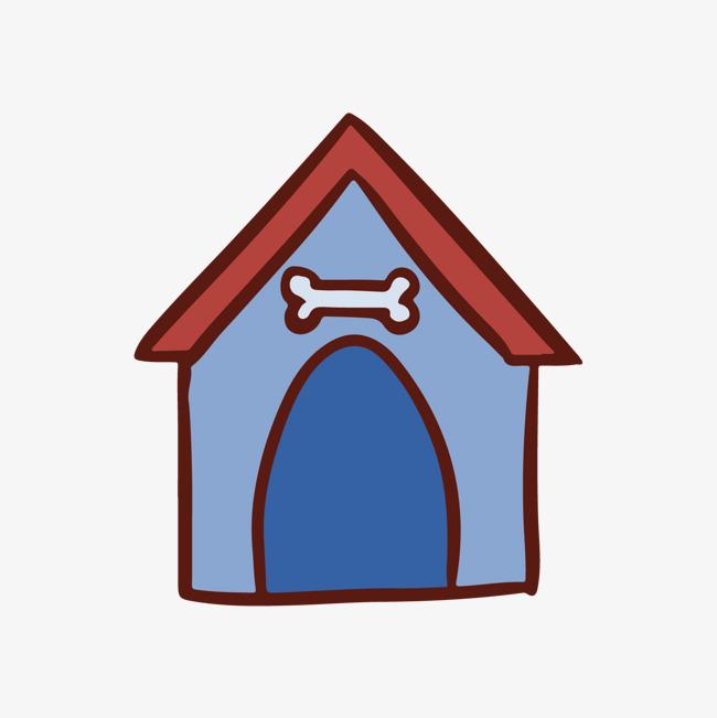 本次彩色三角形几何小狗房屋元素作品为设计师蔚蓝时光创作,格式为png图片