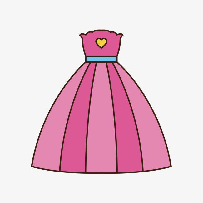 本次粉色手绘线稿裙子元素作品为设计师蔚蓝时光创作,格式为png,编号