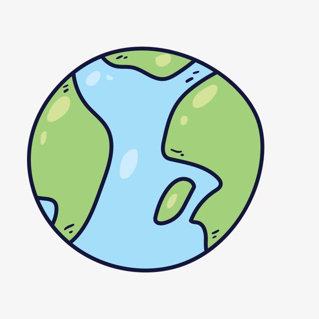 卡通彩绘手绘可爱的地球