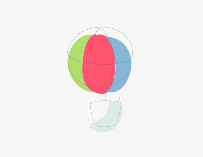 卡通手绘彩色的降落伞