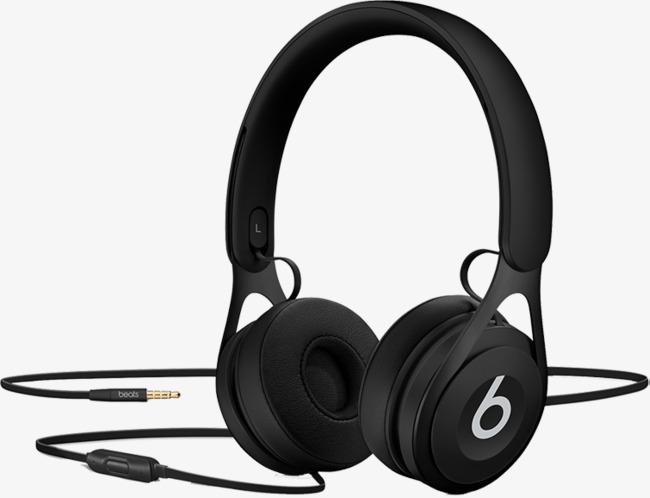 实物魔声黑色款耳机免抠_png素材免费下载_ 754*577