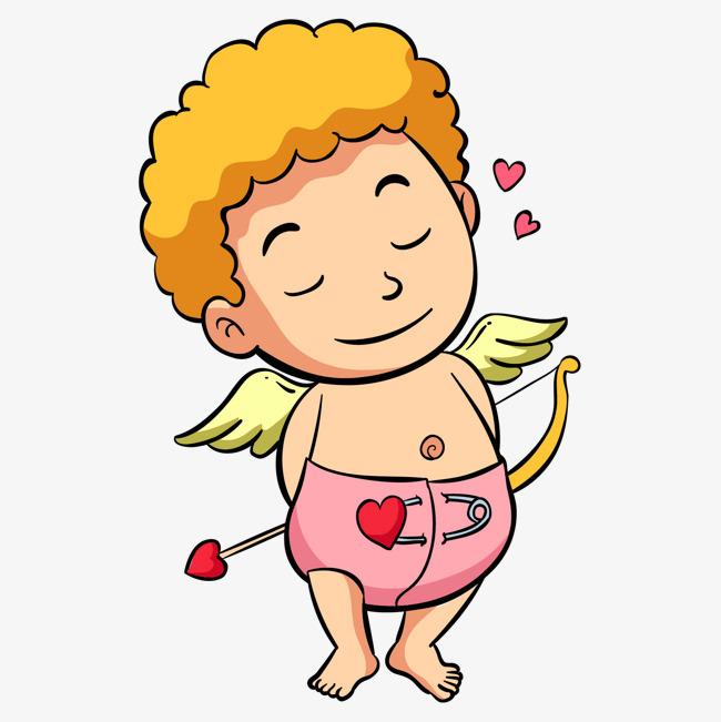 卡通拿着弓箭的小天使