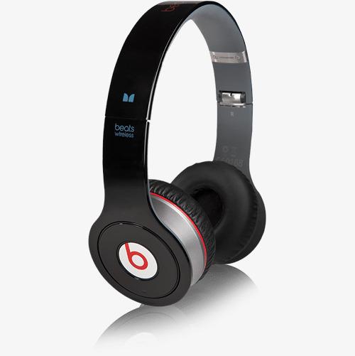 实物黑色魔声无线耳机免抠_png素材免费下载_ 500*501