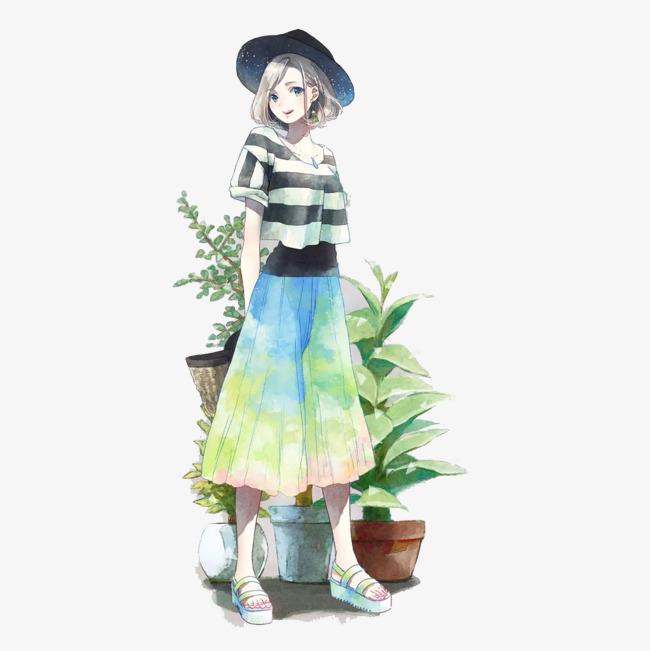 裙子手绘图片_裙子漫画手绘图片