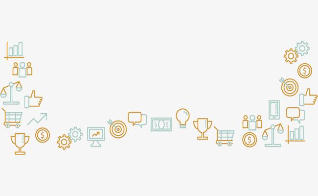 黄绿色商务图标边框_png素材免费下载_ 2921*1054像素