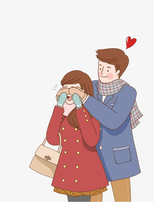 卡通嬉闹的情侣免抠图png素材下载_高清图片png格式