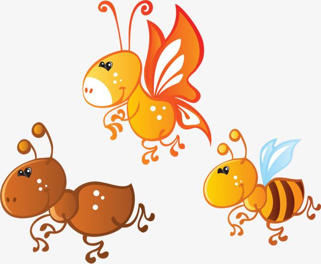 蚂蚁和蜜蜂漫画_卡通小蜜蜂和蚂蚁