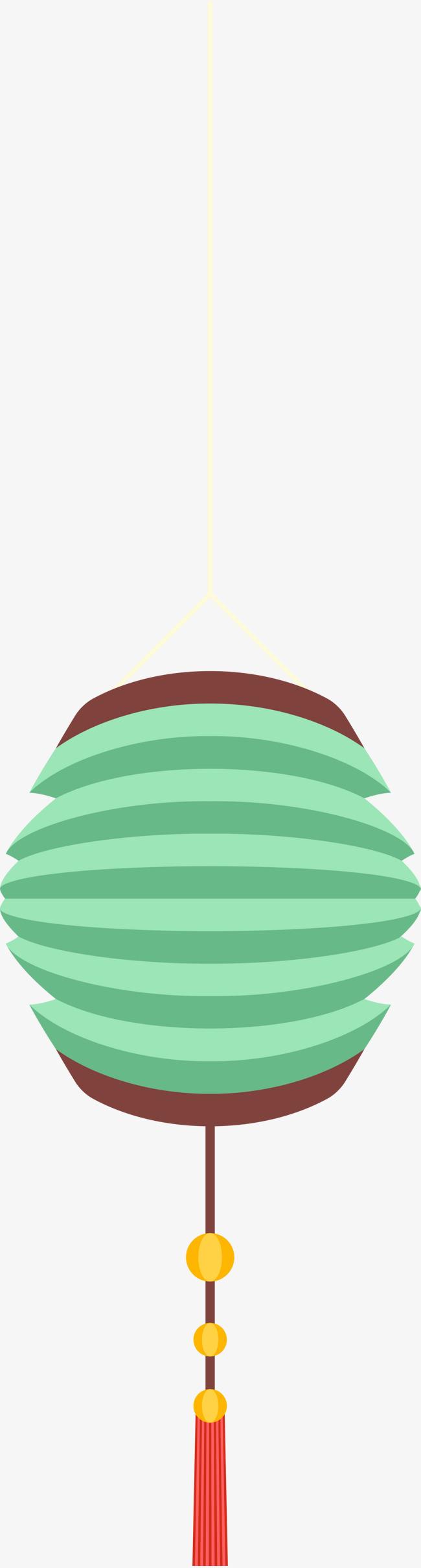 春节绿色折纸灯笼