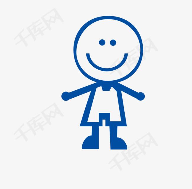 微笑的简笔小人图微笑的表情创意简笔画人物小人卡通-微笑的简笔小